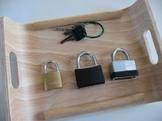 Lock & Key Montessori Tray