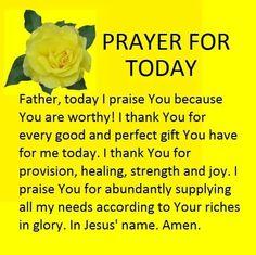 Prayers for Strength is with Semma Gliponeo and 3 others. Prayer Of Praise, Prayer For Guidance, Prayer For Today, Prayers For Strength, Prayer For Family, Prayers For Healing, Prayer Scriptures, Bible Prayers, Faith Prayer