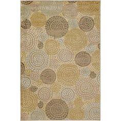 Artistic Weavers - Atherton Tan viscose / chenille en acrylique Area Rug - 5 Feet 2 Inches x 7 Feet 6 Inches - Atherton-5276 - Home Depot Ca...