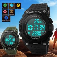 New #men's lady's #pedometer #digital date rubber sport diving running wrist watc,  View more on the LINK: http://www.zeppy.io/product/gb/2/291556073992/