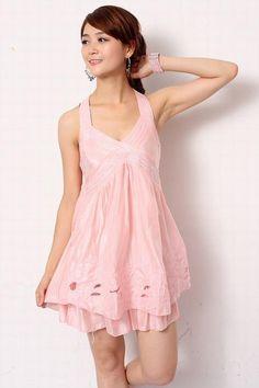 blush colored halter
