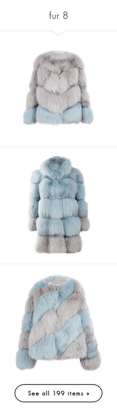 """""""fur 8"""" by sella103 ❤ liked on Polyvore featuring outerwear, jackets, coats, fur, fox jackets, fox fur jacket, blue, blue fox coat, blue coat and fox coat"""