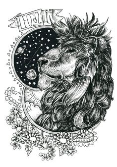 Fun and flirtatious Leo is most expressive sign of the zodiac! Ruled by the Sun and the Fire element, the charming and dramatic Lion is the life of the party. Zodiac Art, Leo Zodiac, Zodiac Signs, Full Moon In Sagittarius, Libra, Aquarius Constellation Tattoo, Astrology Leo, Leo Horoscope, Leo Tattoos