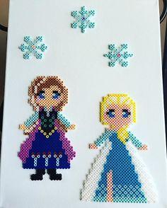 Frozen hama beads by fredlesk