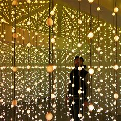 Submergence: An Immersive Field of 8,064 Suspended Lights by Squidsoup