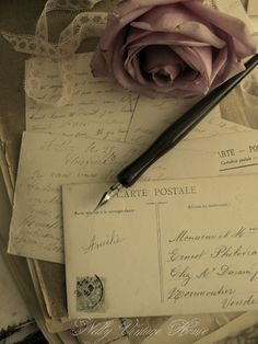 Hand written letters and cards are the best. One of life's simple pleasures!