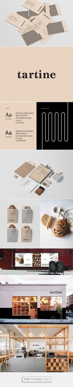 Tartine Bakery / Branding on Behance. - a grouped images picture - Pin Them All Logo Design, Brand Identity Design, Graphic Design Branding, Stationery Design, Corporate Design, Logo Inspiration, Web Design Examples, Restaurant Logo, Bakery Branding