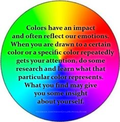 Have you ever wondered why you favor certain colors? Have you ever wondered why you feel like wearing certain clothes? Color is an extension of our physche.