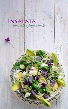 insalata avocado e patate viola - Laura Gioia Potato Salad, Cabbage, Avocado, Food And Drink, Favorite Recipes, Vegetables, Ethnic Recipes, Dolce, Cos