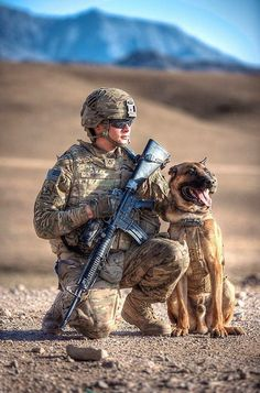 Military War K9 & Handler - God Bless & Protect you!