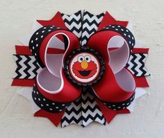 Elmo Inspired Boutique Layered Hair Bow -Elmo Birthday Hair Bow -Sesame Street Hair Bow by DLovelyBOWtique on Etsy https://www.etsy.com/listing/218271905/elmo-inspired-boutique-layered-hair-bow