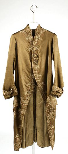 Court coat, silk, c. 1750, European.