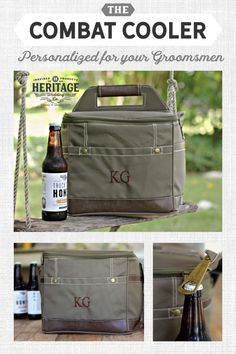 Insulated Cooler Bag w/ Removable Beer Dividers – Personalized Groomsmen Gift Homemade Fathers Day Gifts, First Fathers Day Gifts, Fathers Day Crafts, Cheap Camping Gear, Unique Gifts, Great Gifts, Get Well Gifts, Groomsman Gifts, Groomsmen Gifts Unique