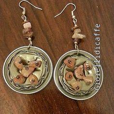 Indriya e pietre dure #gioiellidicaffe #gioielli #capsule #cialde #riciclocreativo #riciclo #craft #kapseln #indriya #pietredure #riciclo #schmuck #manualidades #orecchini #earrings #fattoamano #handmade