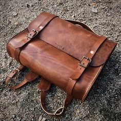 Wow - beautiful brown leather satchel from Bexar Goods Co. - short bags, bags for men, shopping online bags *ad