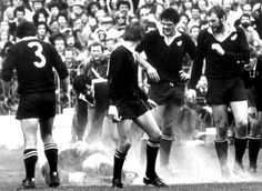 1981 - 'Flour-bomb test' ends Springbok tour The third and deciding rugby test at Eden Park, Auckland, is best remembered for the . Rugby, Eden Park, History Online, All Blacks, Interesting History, Back In The Day, New Zealand, South Africa, Abs