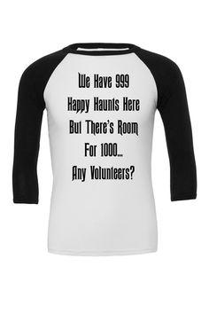 Haunted Mansion Happy Haunts Raglan