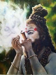 Image result for sadhu-smoking