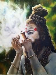 Image result for sadhu-smoking