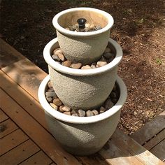 make a cool diy water feature for garden