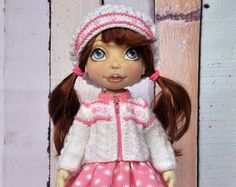 SALE Textile doll decorative dollcollectible dolls by NilaDolss
