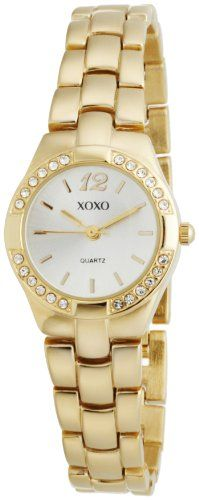 XOXO Women's XO110 Silver Dial Gold-tone Bracelet Watch - List price: $19.99 Price: $8.04 Saving: $11.95 (60%) + Free Shipping