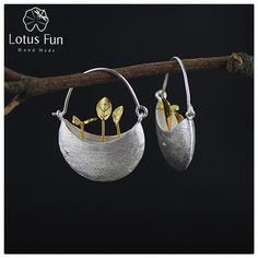 Lotus Fun Real 925 Sterling Silver Natural Bijoux Handmade Fine Jewelry My Little Garden Drop Earrings for Women Brincos ~ Shop 4 Xmas n 2018. Just click the VISIT button for AliExpress.com. #holidaydecor