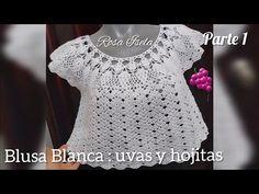 Parte 1 Blusa Blanca,uvas y hojitas - YouTube Col Crochet, Crochet Coat, Crochet Cardigan, Crochet Baby, Crochet Videos, Beaded Rings, Groom Dress, Baby Knitting, Highlands