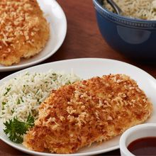 Crispy coconut chicken is a quick, easy meal that the whole family will love. Serve with basmati rice and your favorite dipping sauce. Cooking Recipes, Healthy Recipes, What's Cooking, Healthy Options, Healthy Treats, Yummy Recipes, A Food, Good Food, Bon Appetit
