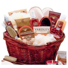 Vanilla Renewal Bath and Body Spa Basket for Women - Birthday, Thank You or Christmas Holiday Gift Idea for Her
