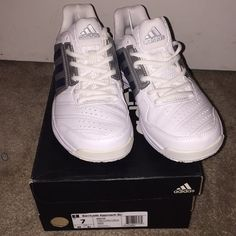 quality design 7efc3 b298a adidas Shoes   Adidas Barricade Approach Str   Color  Silver White   Size
