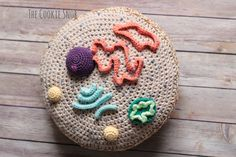 Eukaryotic Cell Pillow Free Crochet Pattern