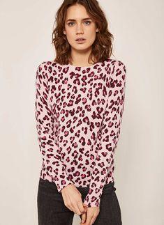 0c2dd9f08792 Pink Leopard Print Knit   Mint Velvet Pink Leopard Print, Yellow, Stylish,  Street