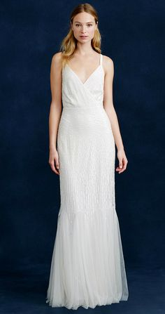 Crew wedding dresses harper a beaded mermaid style bridal gown