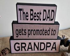 The Best Dad Get Promoted  Christmas Gift for by TimelessNotion