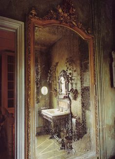 Virginia Bates's vision of shattered and decadent decay, from Divinely Decadent, by Stephen Calloway.