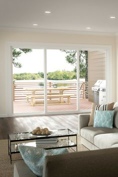 Indoor Outdoor Living Is Huge Right Now Opening Up Your Room To The Back Yard A Must In Featuring Tuscany Series Vinyl Patio Doors