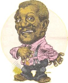 Artwork of one the best old-school comedians of all times REDD FOXX. Best known for his TV series Sanford and Son. My favorite classic TV show. Redd Foxx, Sanford And Son, Black Comics, Sketch Ideas, Classic Tv, Famous Faces, Good Old, Urban Art, Black Art