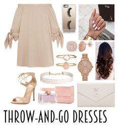 """Easy Peasy: Throw-and-Go Dresses"" by emily5302 ❤ liked on Polyvore featuring Gianvito Rossi, TIBI, Casetify, Yves Saint Laurent, Dolce&Gabbana, Accessorize, Aéropostale, Humble Chic and easypeasy"