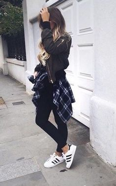 Bomber jacket + flannel.