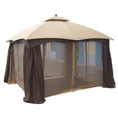 Allen Amp Roth 10 X 12 Gazebo With Mosquito Screens Closed