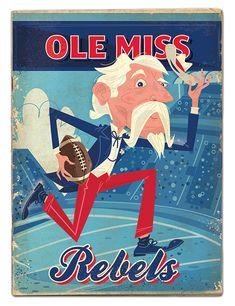 Ole Miss Rebels on Pantone Canvas Gallery Sec Football, Fall Football, Ole Miss Rebels, Red And Blue, Canvas, Pantone, Behance, Bedroom, Gallery