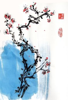 Branche de cerisier en fleur