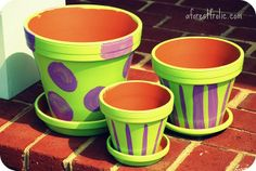 painted clay pots ideas | painting flower pots ideas | Paint Pots – Designs and Patterns to ...