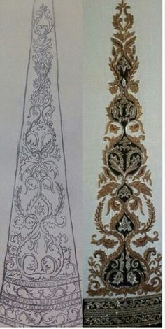 Embroidery pattern for a client, creating magic at Shefali's Studio shefalis_studio@hotmail.com