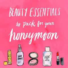 What to Pack For Your Honeymoon Destination. We all know packing is a pain and can be stressful, espcially right after the wedding. Here is the ultimate list to check off that sure will save you time and ensure you bring everything you'll need.