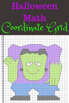 Halloween coordinate grid.  Help your students master this challenging skill in a fun and unique way.  Halloween math activities are always a huge hit in my classroom.