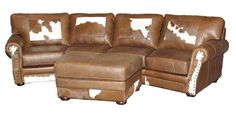 """Way cool """"cowboy"""" furniture. Really """"statement"""" pieces. Definitely wouldn't need much! *** rustic curved sectional sofa - Google Search"""
