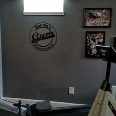 """Our Personalized vinyl """"Home Gym"""" sign"""