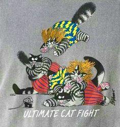 Ultimate Cat Fight by B. Kliban